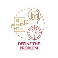 definieer het pictogram van het concept van het rode kleurverloop probleem