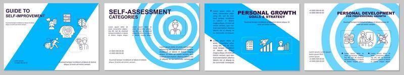 begeleiding bij zelfverbetering brochuremalplaatje vector