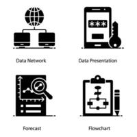 big data en datacenter pictogrammen