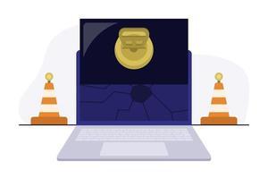 laptop reparatie kegels vector