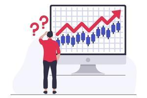 verwarring op de aandelenmarkt vector