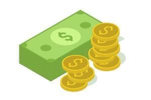 isometrische geldstapel