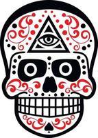 schedel en paisley, vintage design vector