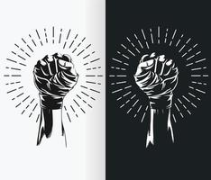 silhouet van mma inwikkeling vechtersvuist, sportverband tekening stencil vector