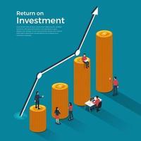 rendement op investering vector