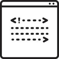 lijnpictogram voor backend