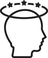 lijn pictogram voor hoofdpijn