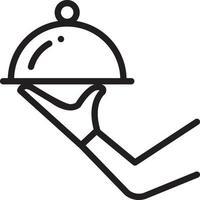 lijn pictogram voor klaar vector