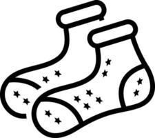 lijnpictogram voor sokken vector