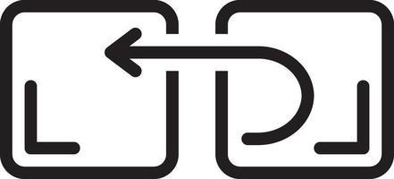 lijn pictogram voor terugkeer