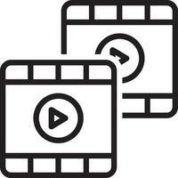 lijnpictogram voor beeldmateriaal