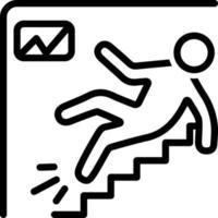 lijn pictogram voor werkplek