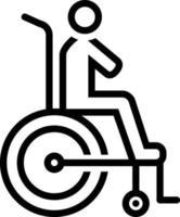 lijn pictogram voor handicap