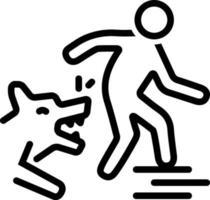 lijn pictogram voor hond