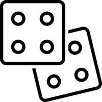 lijn pictogram voor gokken