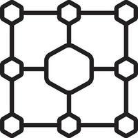 lijnpictogram voor netwerkstructuur vector