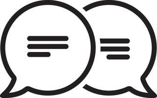 lijn pictogram voor bericht
