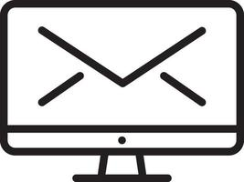 lijnpictogram voor mailing