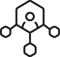 lijn pictogram voor de mens