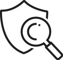 lijn pictogram voor veilig