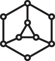 lijnpictogram voor blok, ketting