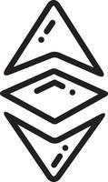 lijnpictogram voor ethereum