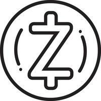 lijnpictogram voor zcash-munt