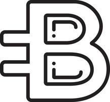 lijnpictogram voor bytecoin