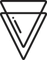 lijn pictogram voor berm