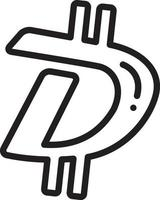 lijnpictogram voor digibyte