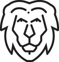 lijn pictogram voor leeuw