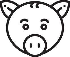 lijn pictogram voor varken