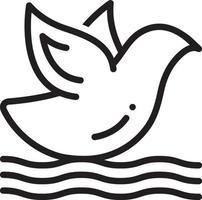 lijn pictogram voor vogel