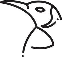 lijn pictogram voor pinguïn