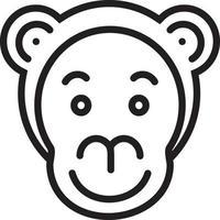 lijnpictogram voor aap