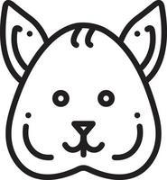 lijnpictogram voor eekhoorn