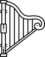 lijnpictogram voor harp