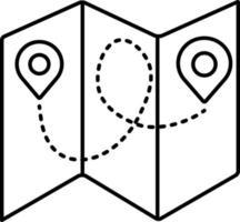lijnpictogram voor gevouwen