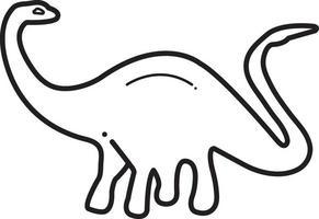 lijn pictogram voor dinosaurus