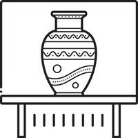 lijn pictogram voor vaas