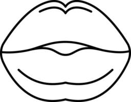 lijn pictogram voor zoenen