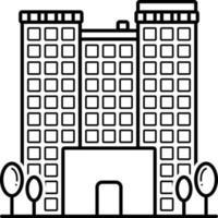 lijnpictogram voor appartementen