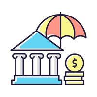 sociale verzekering RGB-kleur pictogram