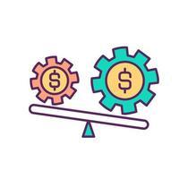 marktinstabiliteit RGB-kleur pictogram