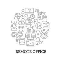 externe kantoor abstracte lineaire concept lay-out met kop