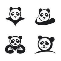 panda logo afbeeldingen illustratie