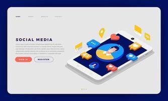 sociale media cocept vector