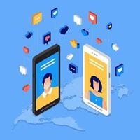 sociale media dag vector