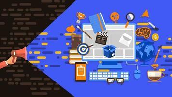 banner digitale marketing vector