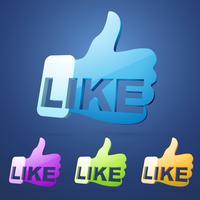 sociaal zoals duim vector